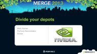 Divide your depots - Perforce