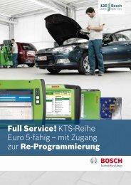 Full Service! KTS-Reihe Euro 5-fähig – mit Zugang zur Re - Bosch