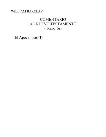 C. William Barclay, Apocalipsis vol.