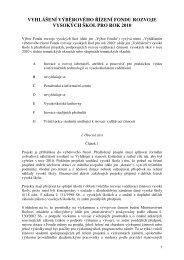 vyhlášení výběrového řízení fondu rozvoje vysokých škol pro ... - FRVŠ