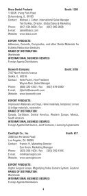 2008 Export Directory.indd - Greater New York Dental Meeting - Page 6