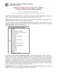 pdf (it, 31 KB, 7/21/10) - Università degli Studi di Verona