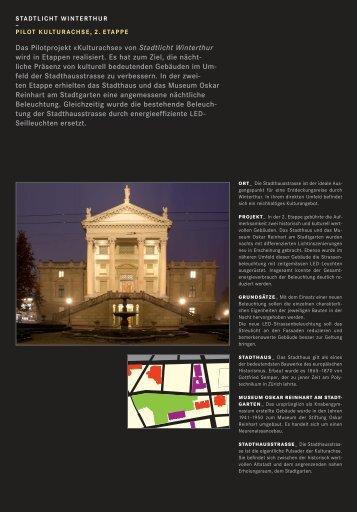 Stadtlicht Winterthur - Stadtentwicklung - Winterthur