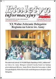 XX Walne Zebranie Delegatów Regionu na ... - NSZZ Solidarność