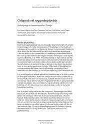 Ortopedi vid ryggmärgsbråck - BLF
