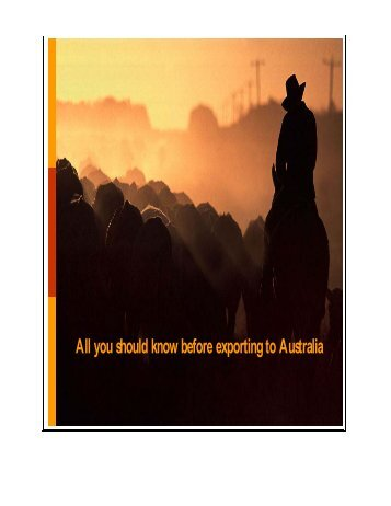 All you should know before exporting to Australia