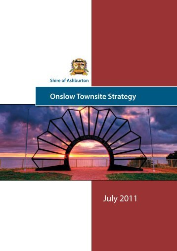 Onslow Townsite Strategy - Shire of Ashburton