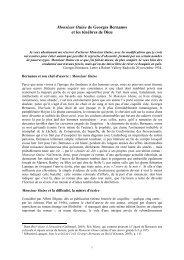 Monsieur Ouine de Georges Bernanos et les ténèbres de ... - Stalker