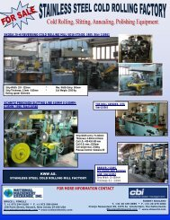 for more information contact - National Machinery Exchange