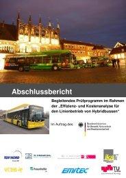 Effizienz- und Kostenanalyse für den Linienbetrieb von Hybridbussen