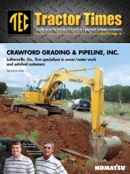 CRAWFORD GRADING & PIPELINE, INC. - TEC Tractor Times