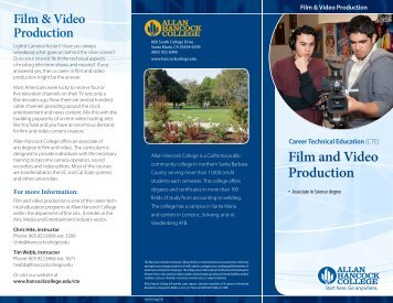 Film and Video Production - Allan Hancock College
