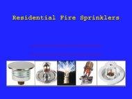 Residential Fire Sprinklers - American Burn Association