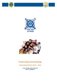 Info Brochure - Lions Clubs International - MD 112 Belgium