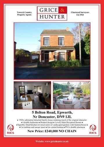 5 Belton Road, Epworth - Grice & Hunter