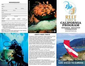 Reef Check California - NOAA's Coral Reef Conservation Program