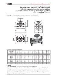 Regulacioni ventil STRÖMAX-GMF