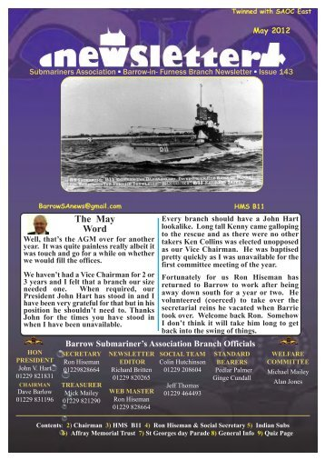 May 12 - Barrow Submariners Association