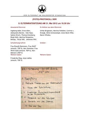 2012-05-31 ER-Sitzung Protokoll.pdf - Walddörfer Gymnasium