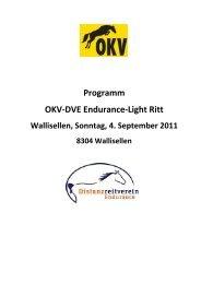 Programm OKV-DVE Endurance-Light Ritt - KVSOE