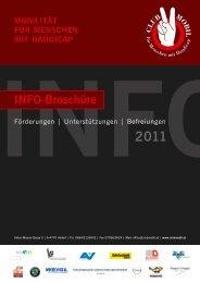 Info mobIlItät für menschen mIt handIcap Info-broschüre