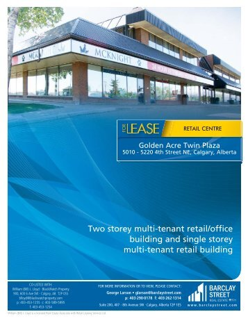 Two storey multi-tenant retail/office building and single storey multi ...