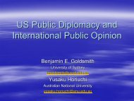 US Public Diplomacy and International Public Opinion