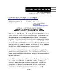 national constitution center to host baseball as america