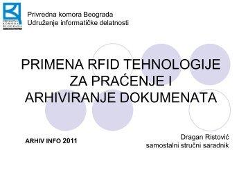 primena rfid tehnologije za praćenje i arhiviranje dokumenata