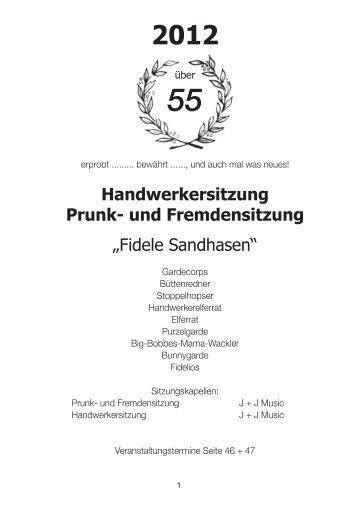 """Handwerkersitzung Prunk- und Fremdensitzung """"Fidele Sandhasen"""""""