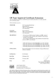 LR Type Approval Certificate Extension - TKF