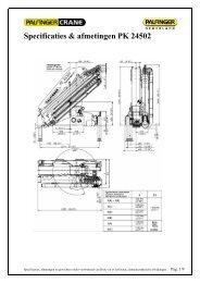 bijlage: Specificaties & afmetingen PK 24502 - Palfinger