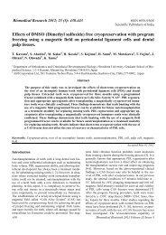 Effects of DMSO (Dimethyl sulfoxide) - Biomedical Research