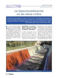 La impermeabilización en las obras civiles - Colegio de Ingenieros ...