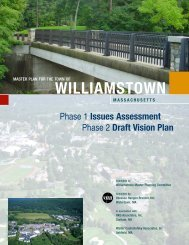 Master Plan for the Town of Williamstown, Issues ... - VHB.com