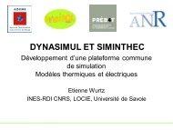 Modèles thermiques et électriques, Etienne Wurtz - Prebat 2