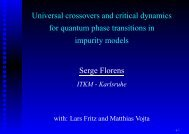 Universal crossovers and critical dynamics for quantum phase ...