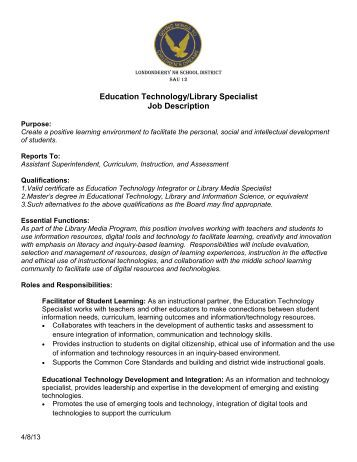 learning specialist job description
