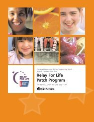 Relay For Life Patch Program - Girl Scout Council - Colonial Coast