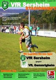 Heute: Markus Philipp - VfR Sersheim 1929 eV