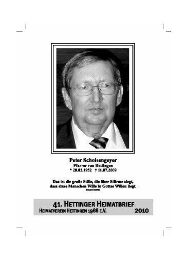 41. Hettinger Heimatbrief 2010 - Protendics