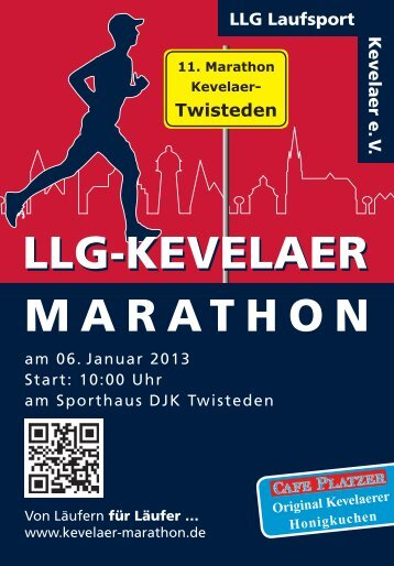 Ausschreibung 2013 - LLG Kevelaer-Marathon
