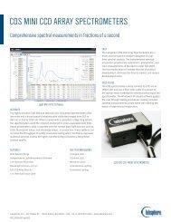CDS-600-610 Spectrometers - Labsphere