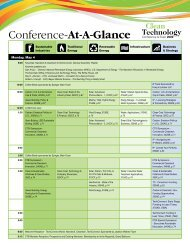 Cleantech Conference-At-A-Glance (pdf) - Clean Technology and ...