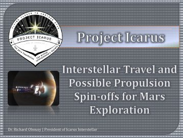 Interstellar Travel and Possible Propulsion Spin ... - Icarus Interstellar