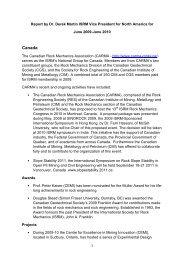 VP North America Activity Report 2010 (pdf file) - ISRM