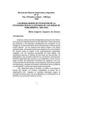 Modalidad de ocupación en Patagonia - Facultad de Filosofía y Letras