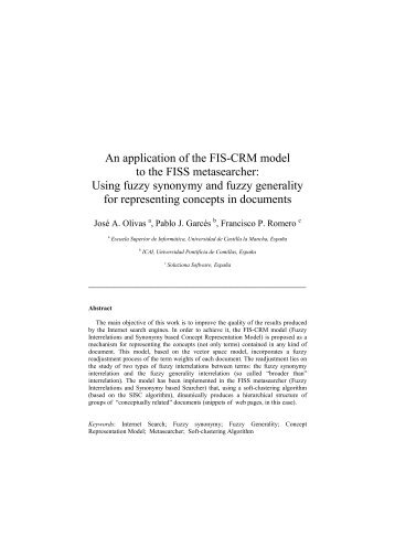An application of the FIS-CRM model to the FISS metasearcher ...