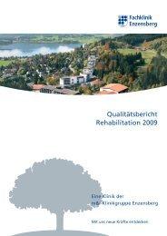 Qualitätsbericht Rehabilitation 2009 - Klinik - Fachklinik Enzensberg