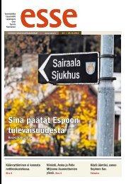 Esse 43/2012 (pdf) - Espoon seurakuntasanomat